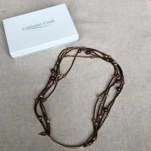 Coldwater Creek multi brown bead necklace